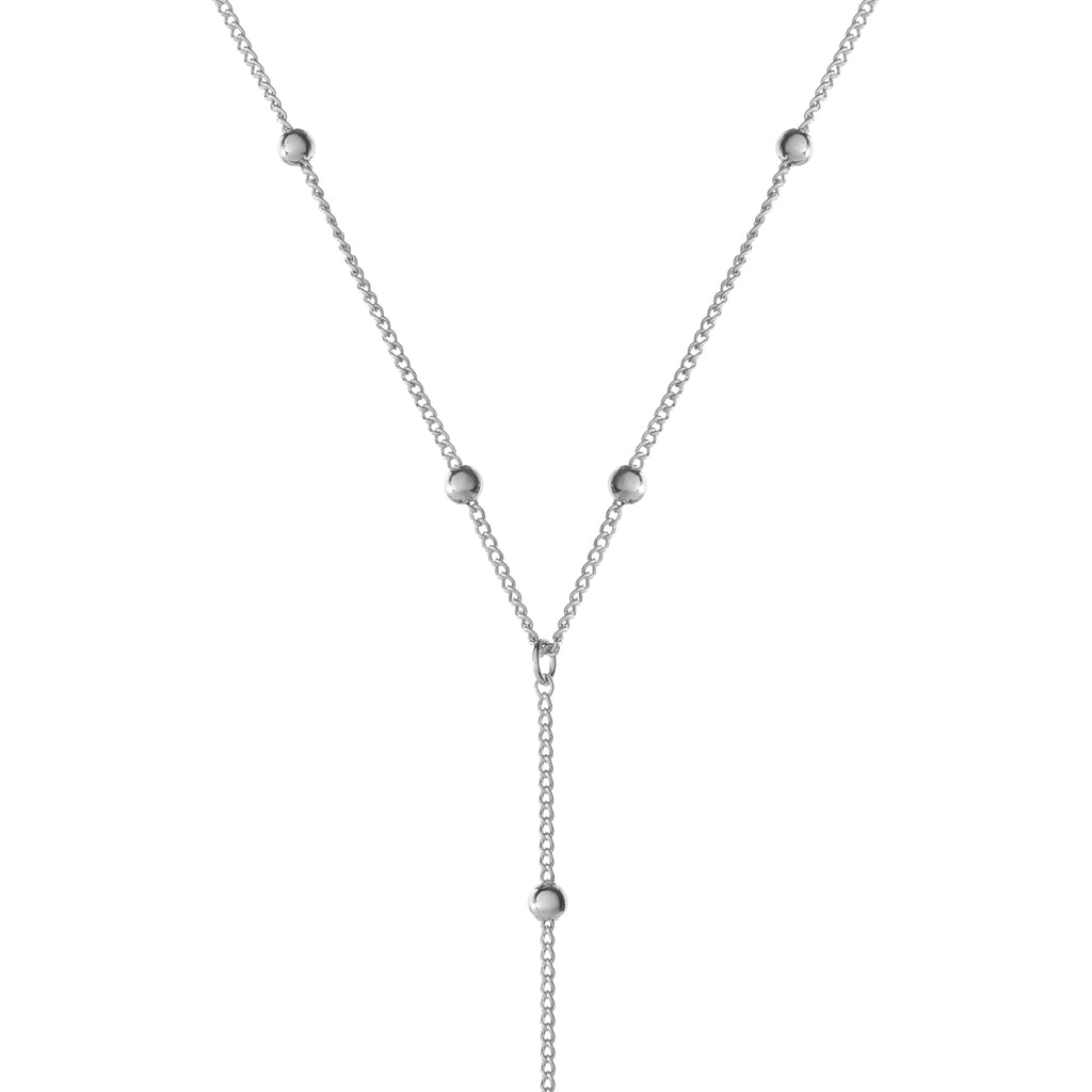 Veronica Drop Chain Necklace - silver