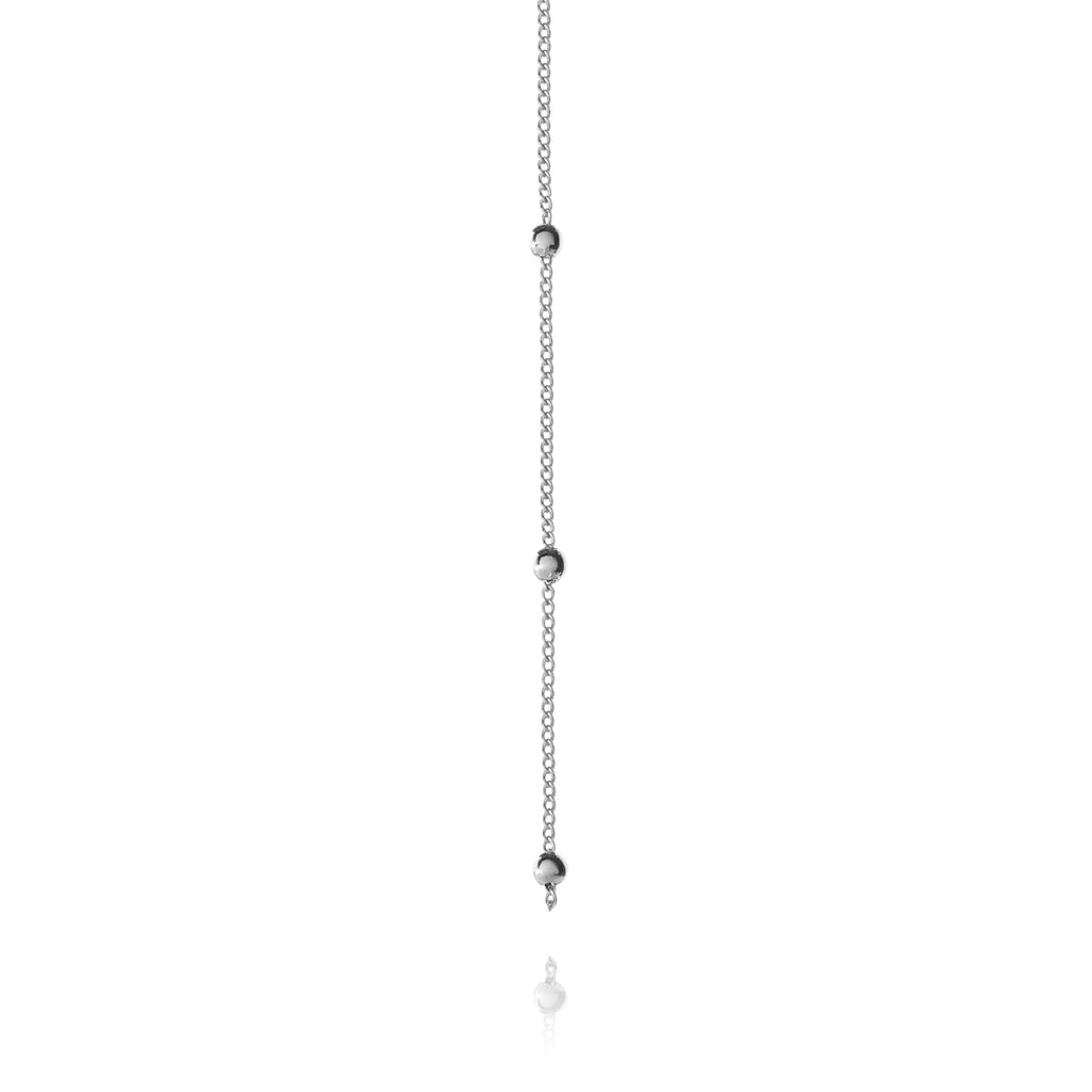 Veronica Drop Chain Necklace 2 - silver