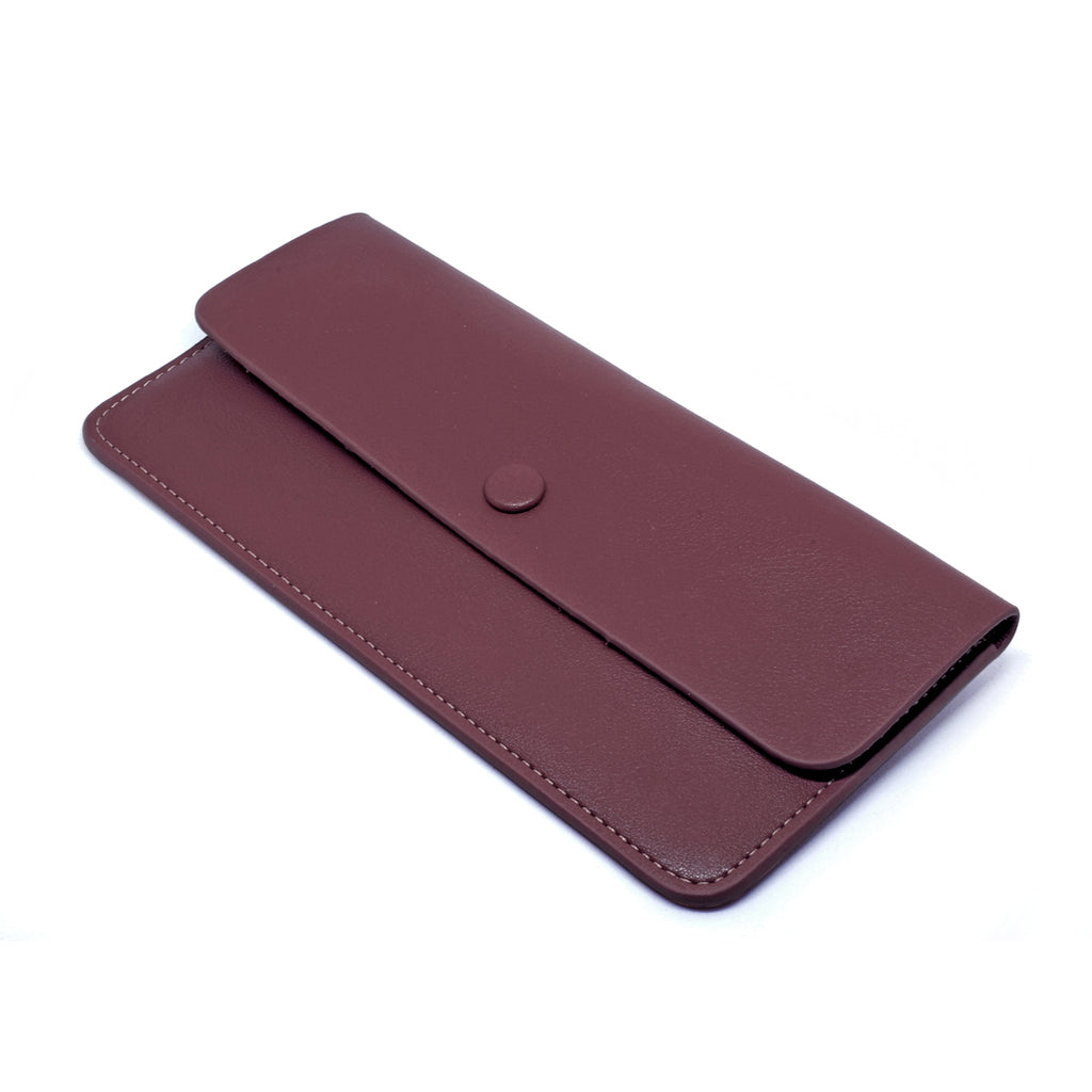 Premonition Leather Wallet angle - burgundy