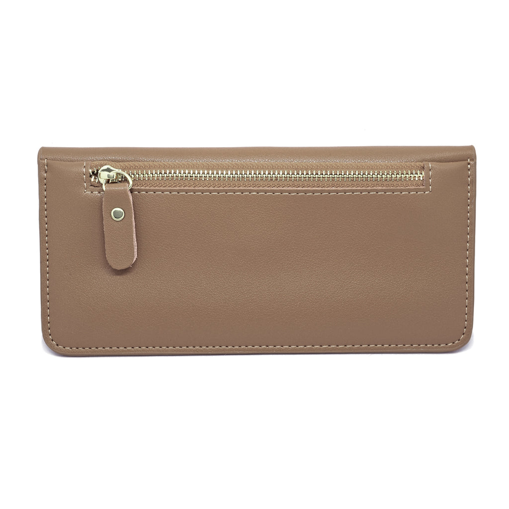 Premonition Leather Wallet back - apricot