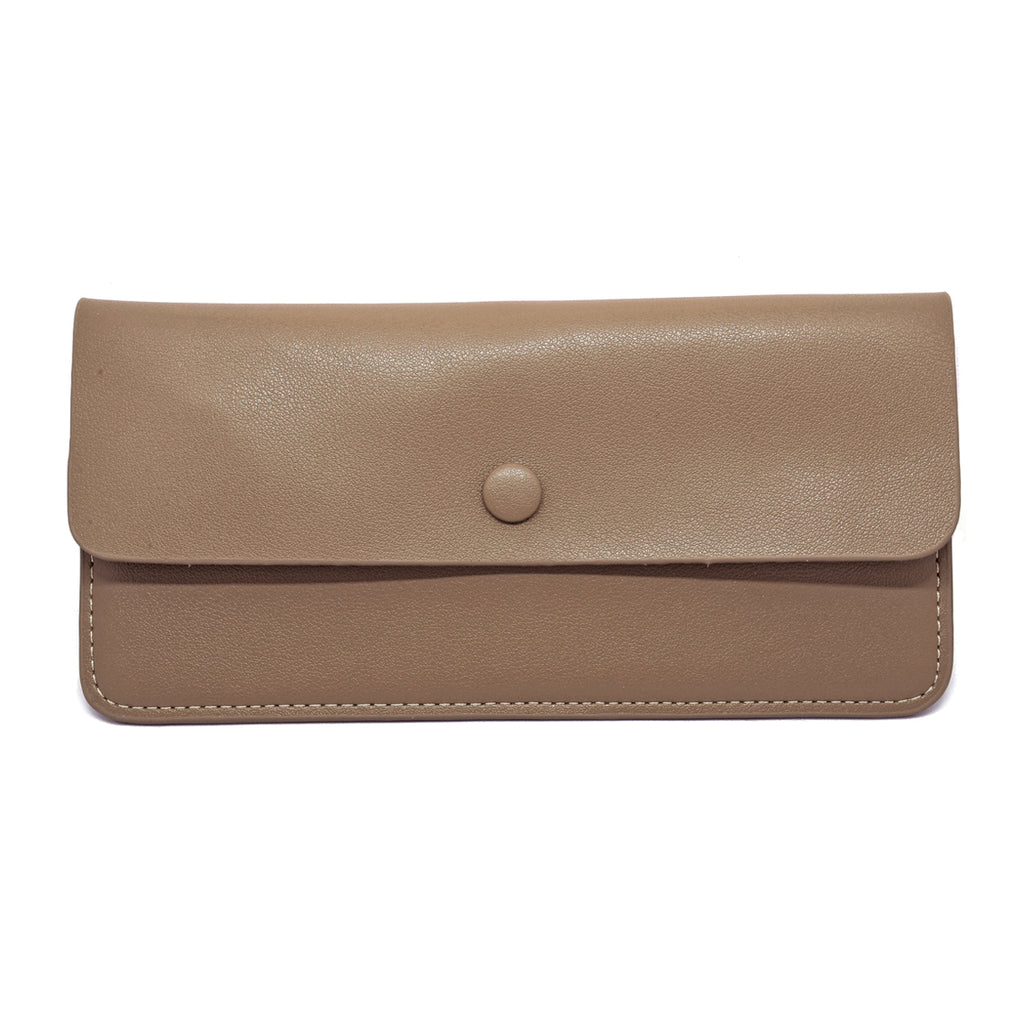 Premonition Leather Wallet front - apricot