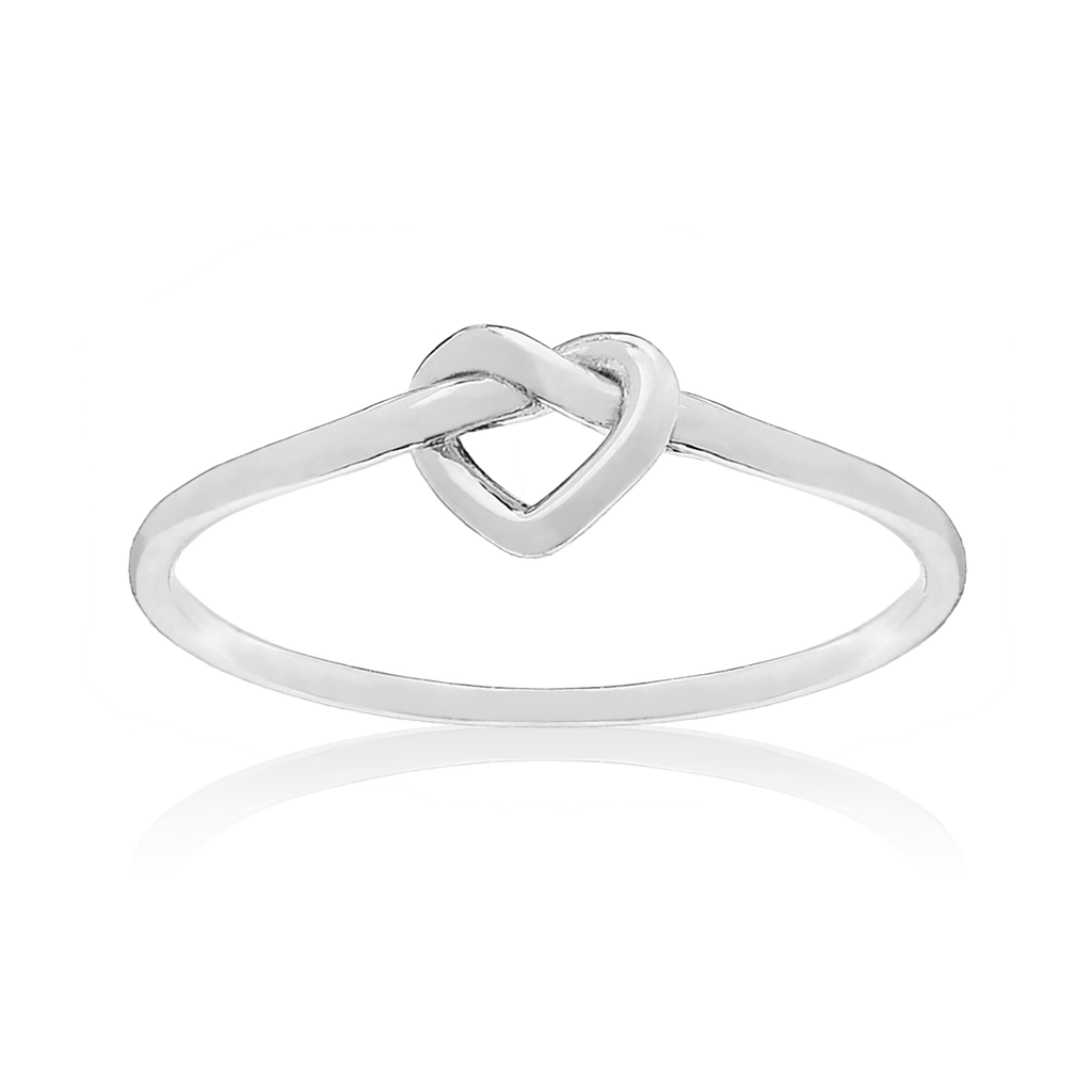 Heart Knot Ring - sterling silver