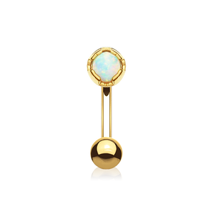Antidote Opal Daith & Rook Piercing - gold