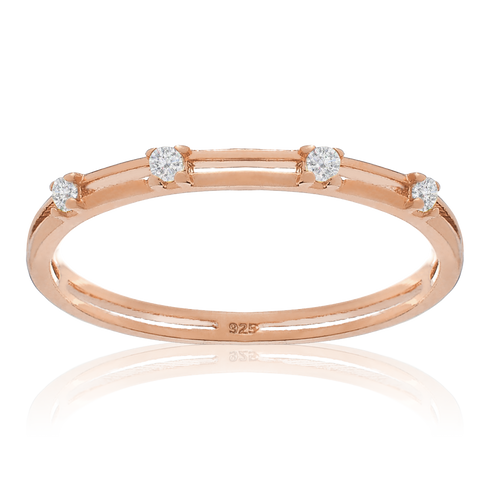 Momento Gemstone Ring - rose gold