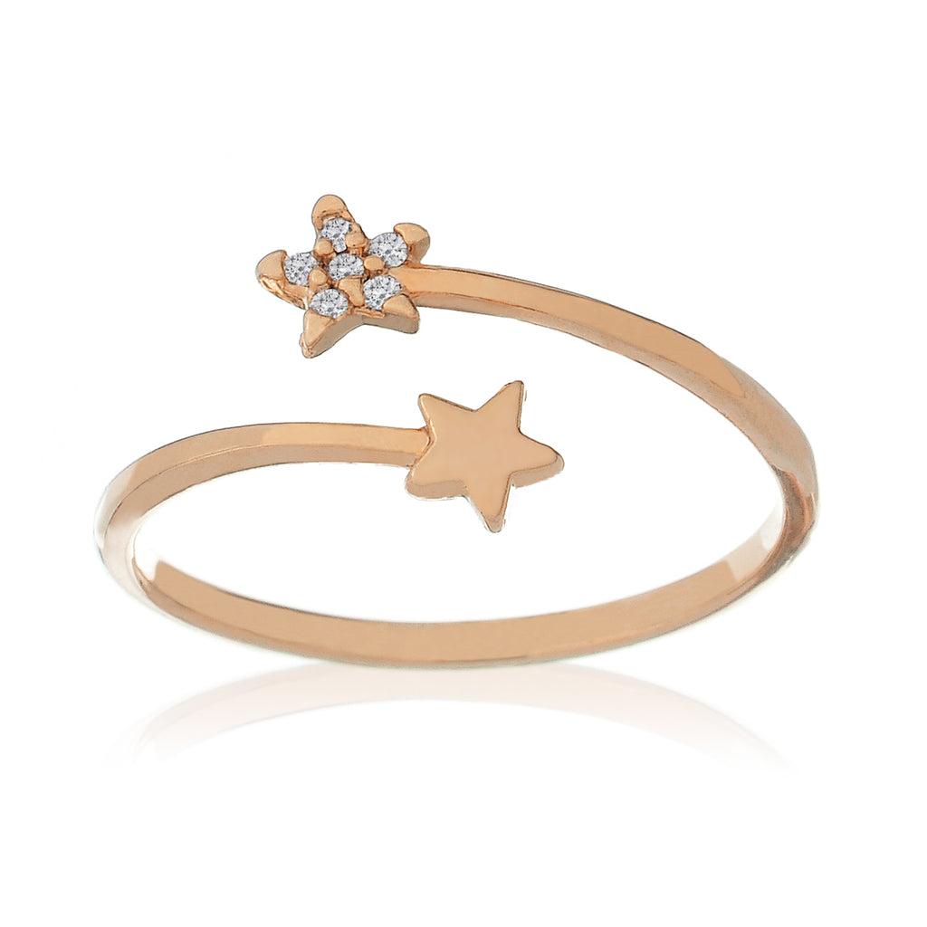 Astro Star Ring - rose gold