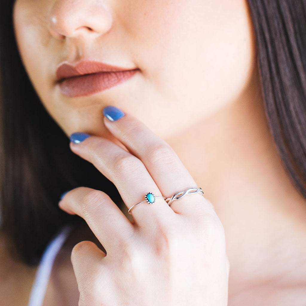 Essence Ring on model - Turquoise