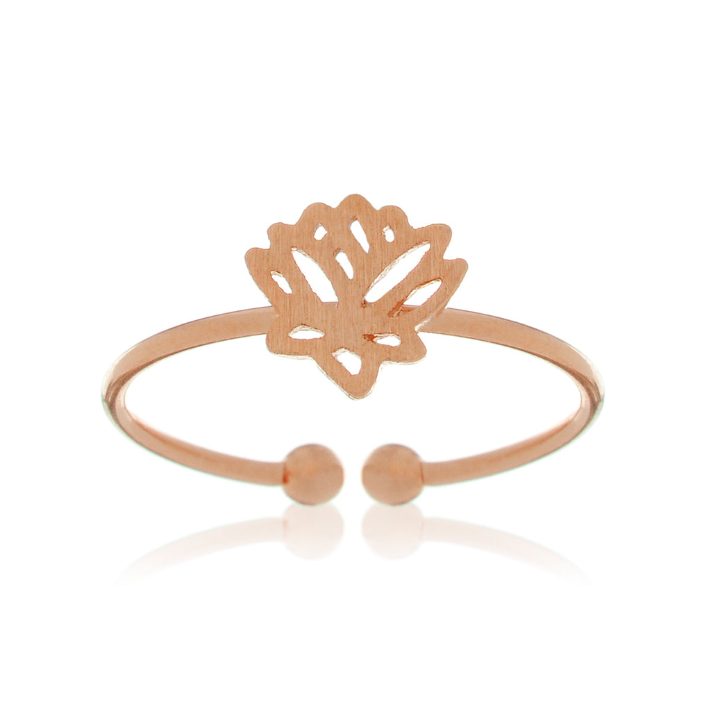 Lotus Filigree Ring - rose gold