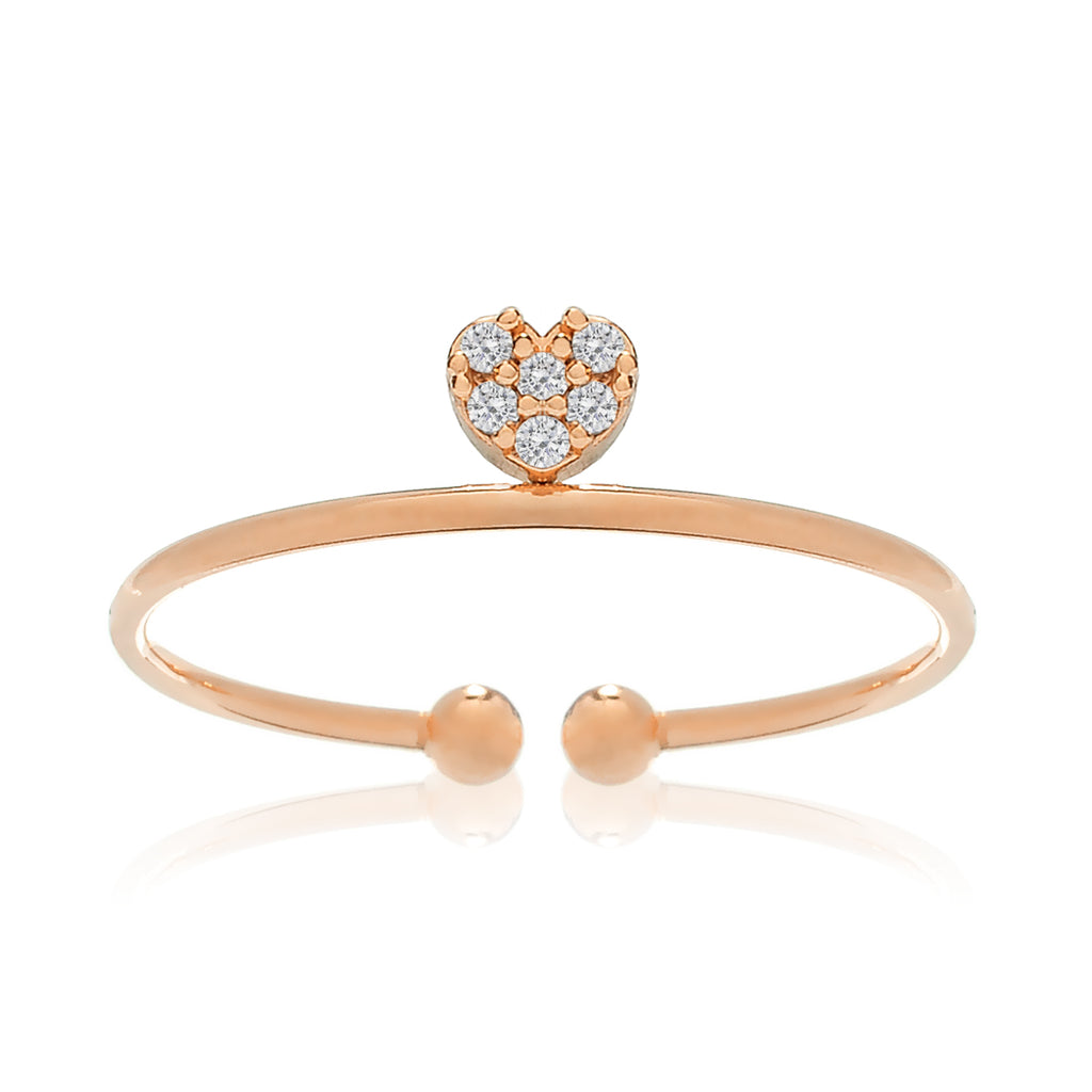 Love Song Heart Ring - rose gold