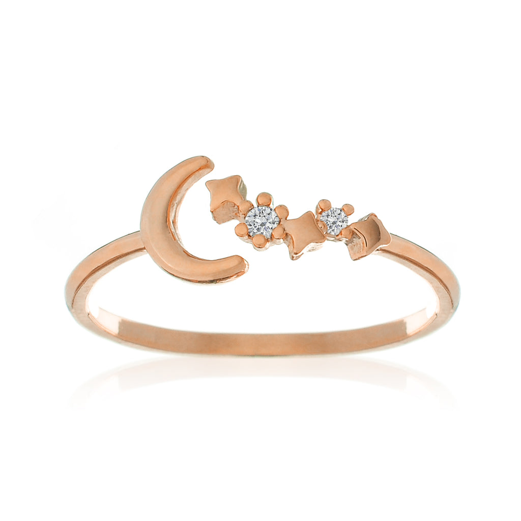 Moonbeam Ring - rose gold