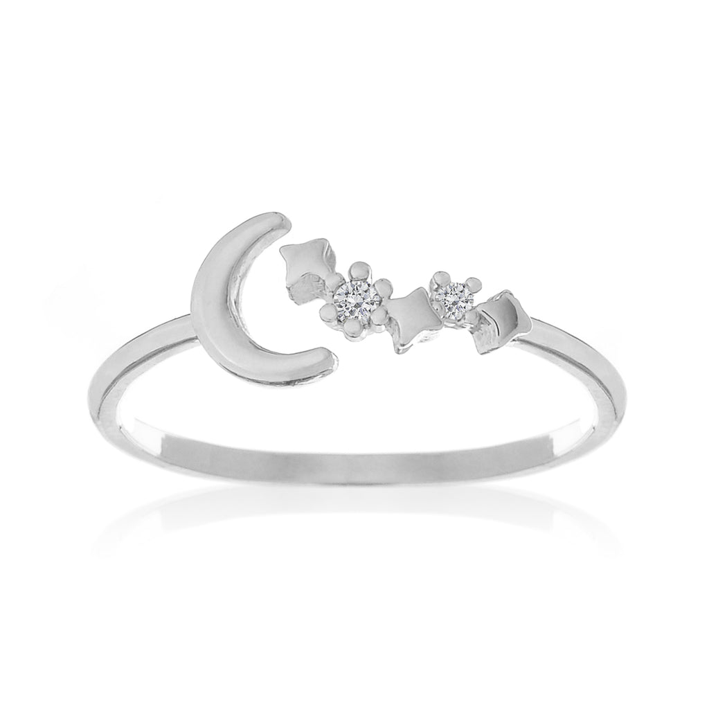 Moonbeam Sparkle Ring - silver