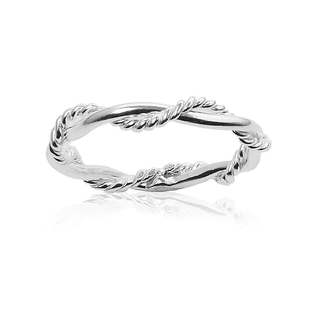 Barbwire Twist Ring - sterling silver