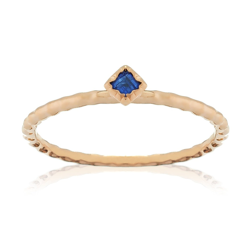 Serenity Sapphire Gem Ring - rose gold