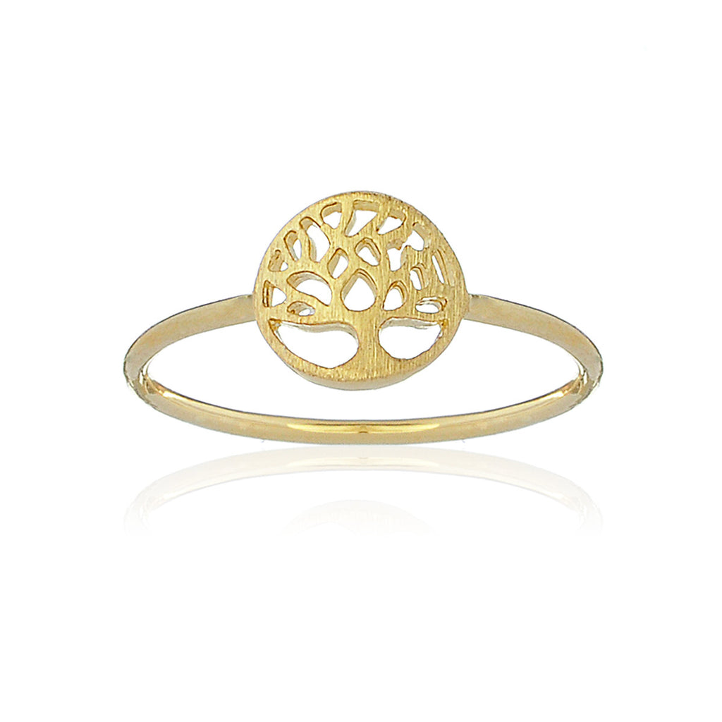 Mini Tree of life ring - Gold