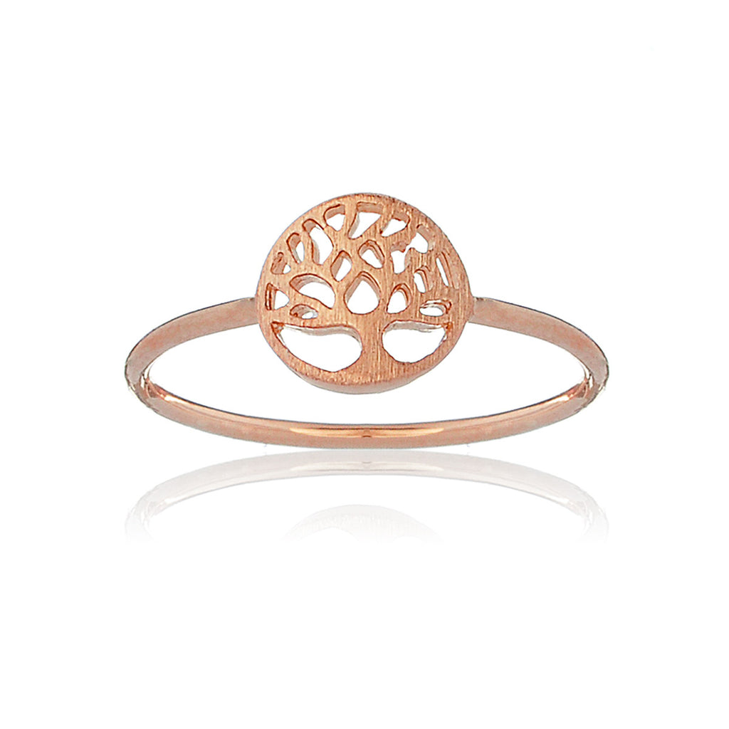 Mini Tree of life ring - Rose Gold