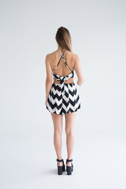 Sally striped playsuit