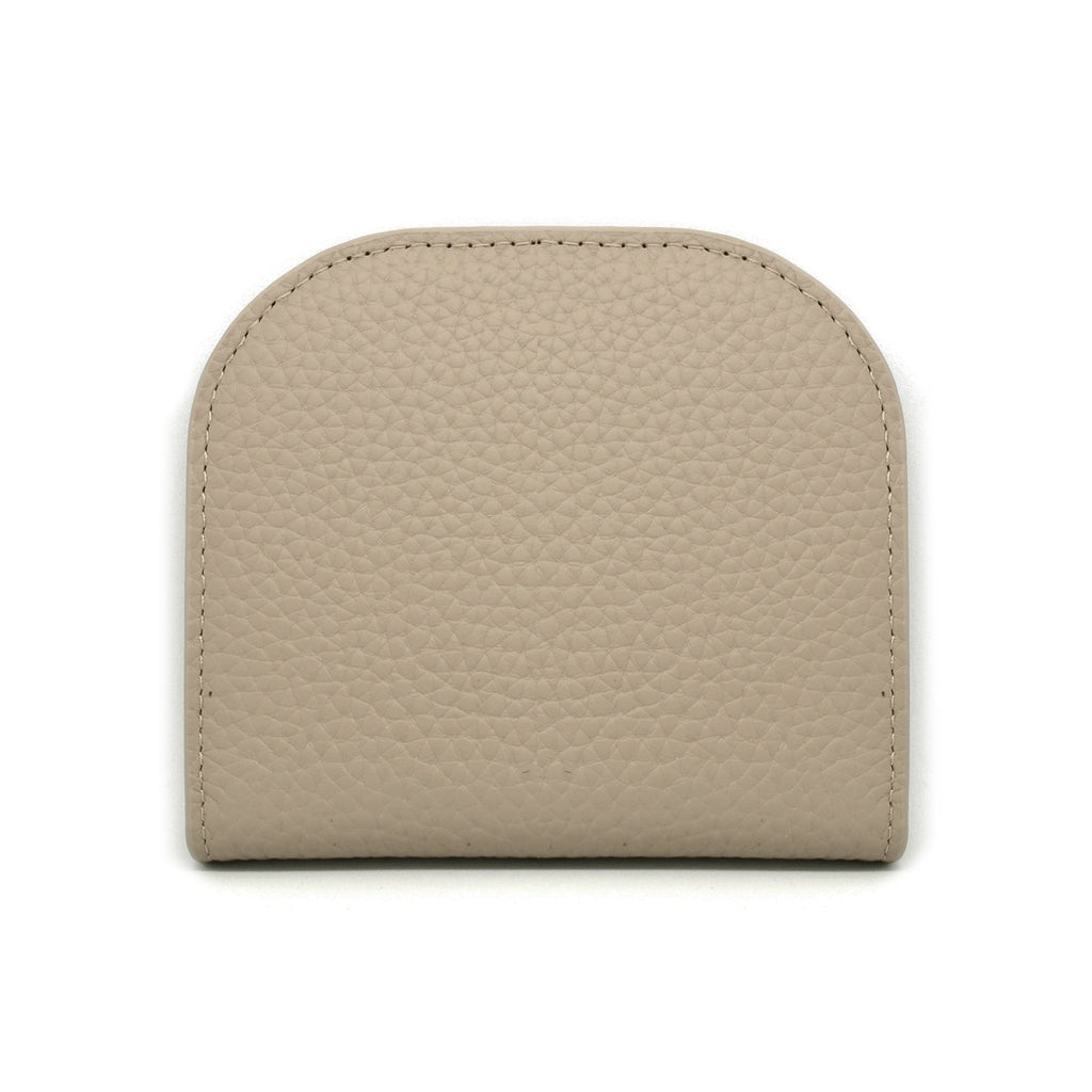 Suri Leather Wallet front - khaki