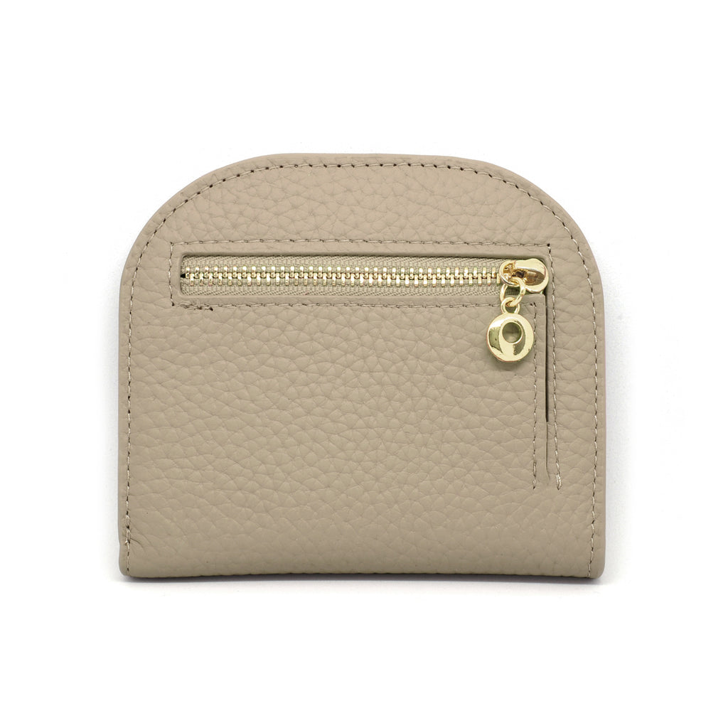 Suri Leather Wallet back - khaki