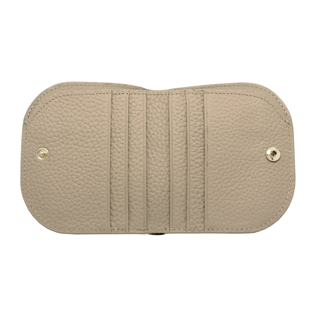 Suri Leather Wallet inside - khaki