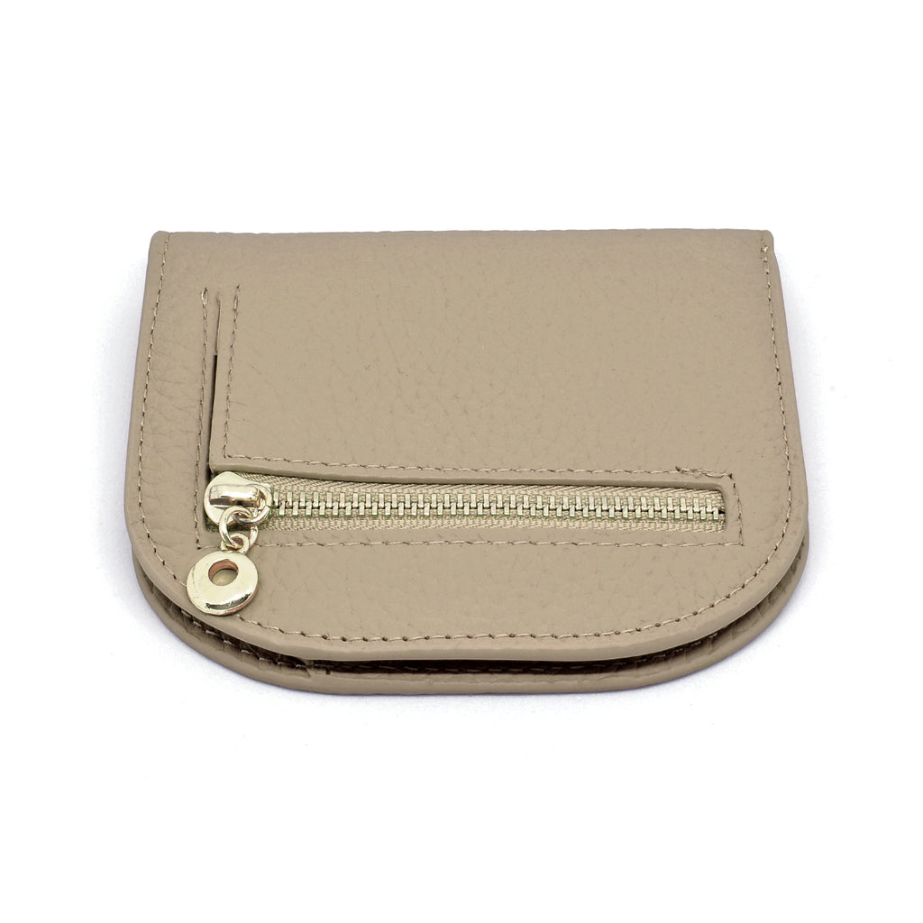 Suri Leather Wallet angle - khaki