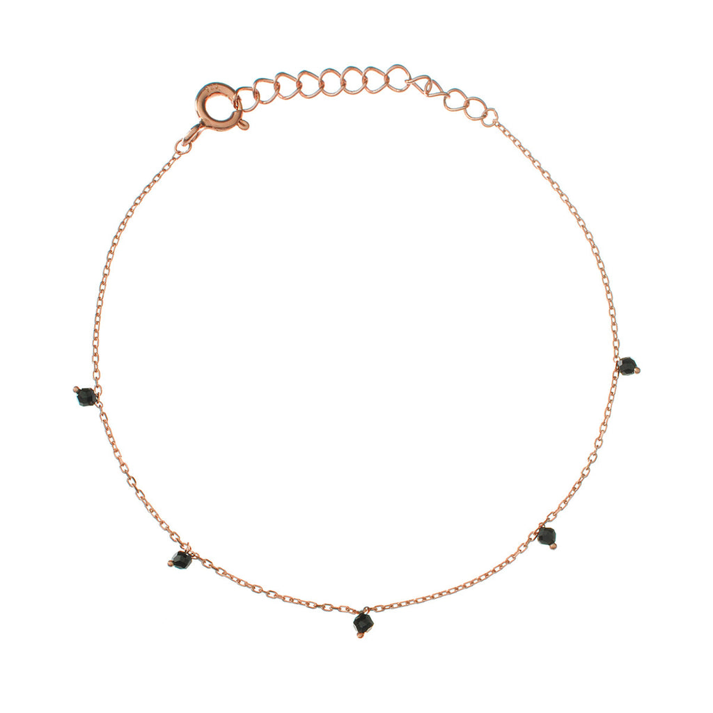 Black Stars Bracelet 2 - rose gold with onyx