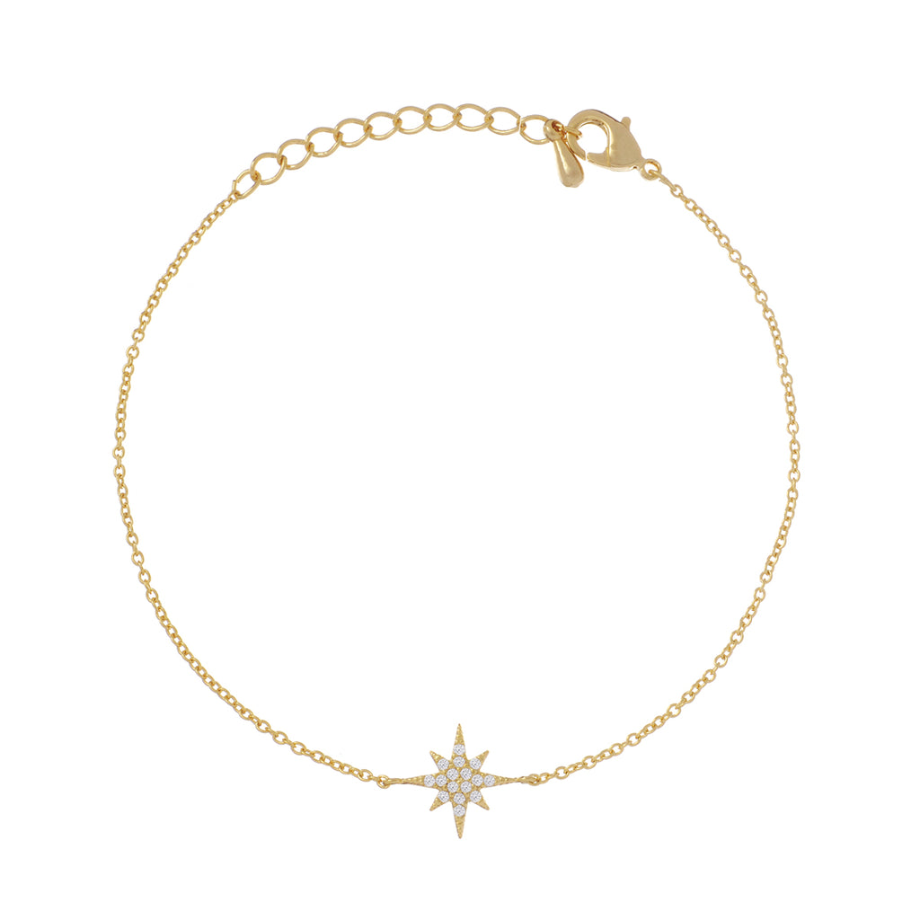 Burst Star Gem Bracelet 2 - gold