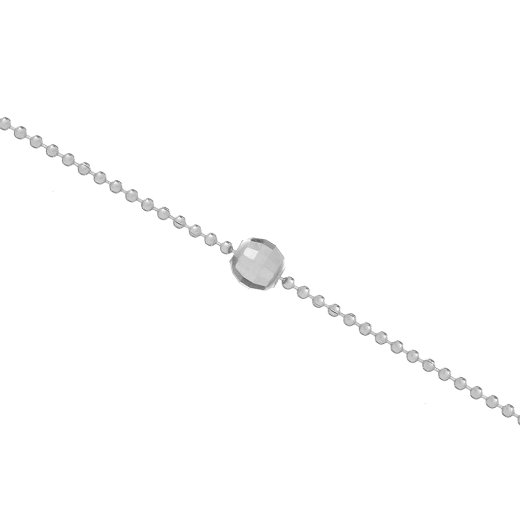 Essence Bead Anklet - sterling silver