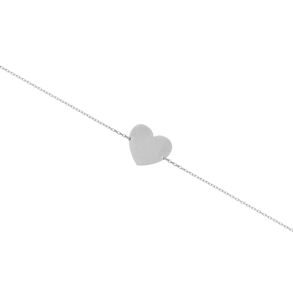 Love Club Heart Pendant Bracelet - silver