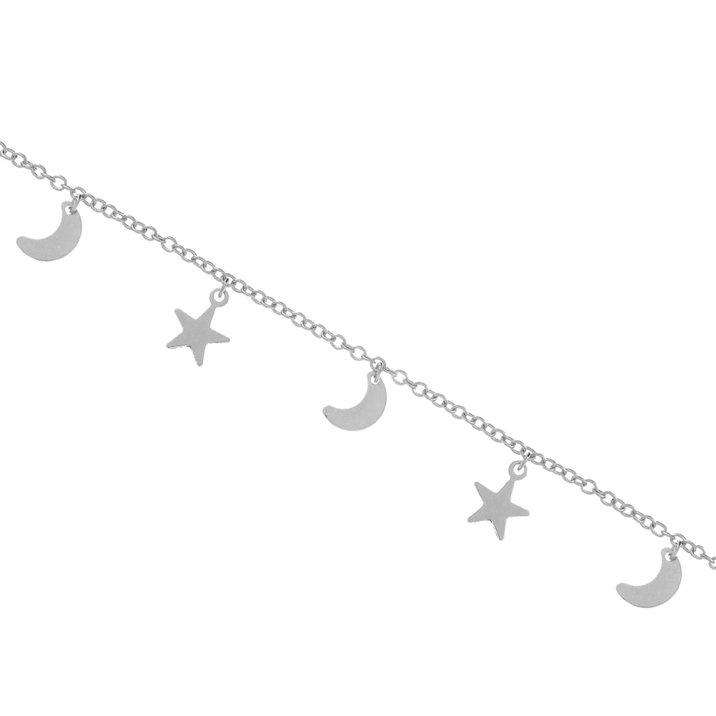 Night Child Moon & Star Bracelet - silver