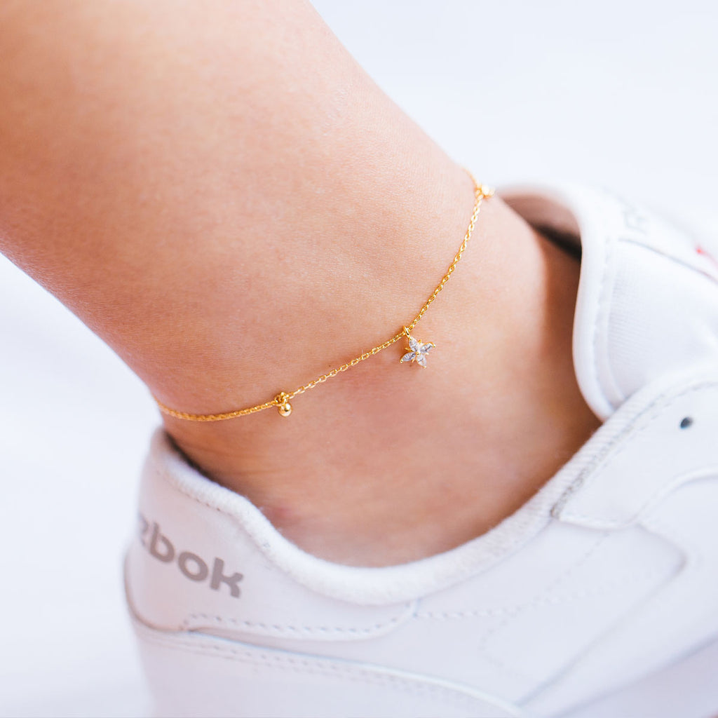 Sunday Anklet - Silver