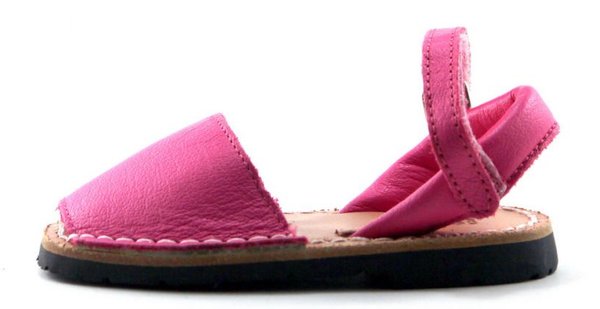 pink leather sandals poppeto