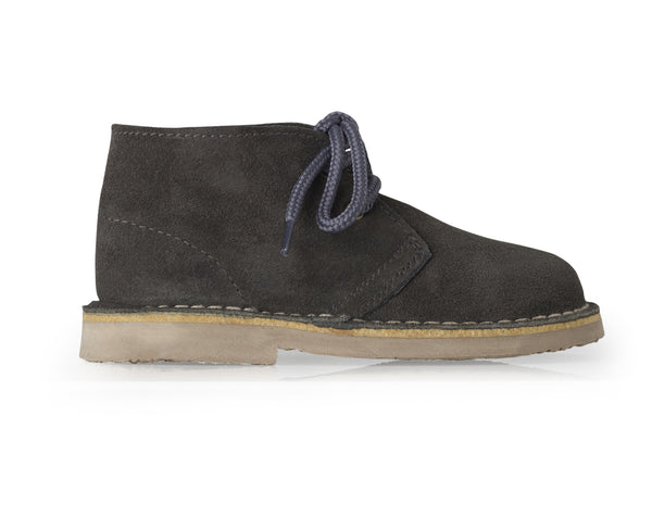 Womens Grey lace up desert boot