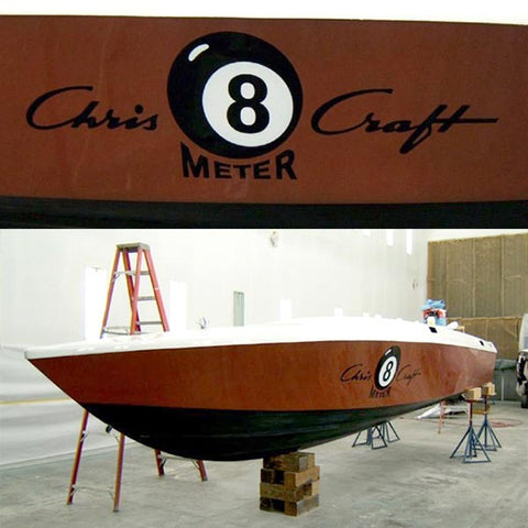 Cris Craft Boat Painting