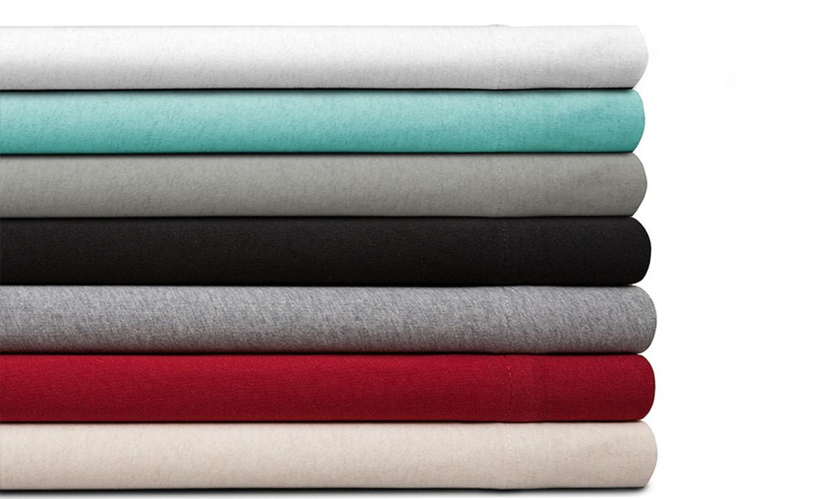 Spectrum Home GOTS Certified Organic Cotton Red Jersey Sheet Set