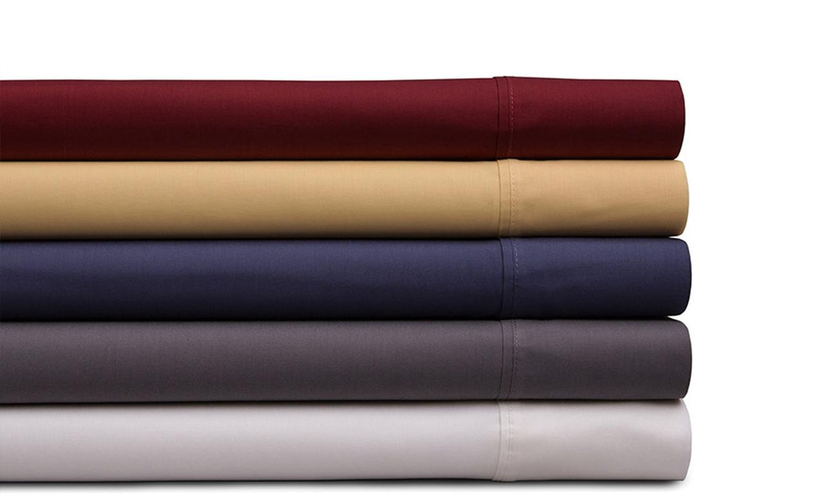 Spectrum Home GOTS Certified Organic Cotton T-200 Wine Sheet Set