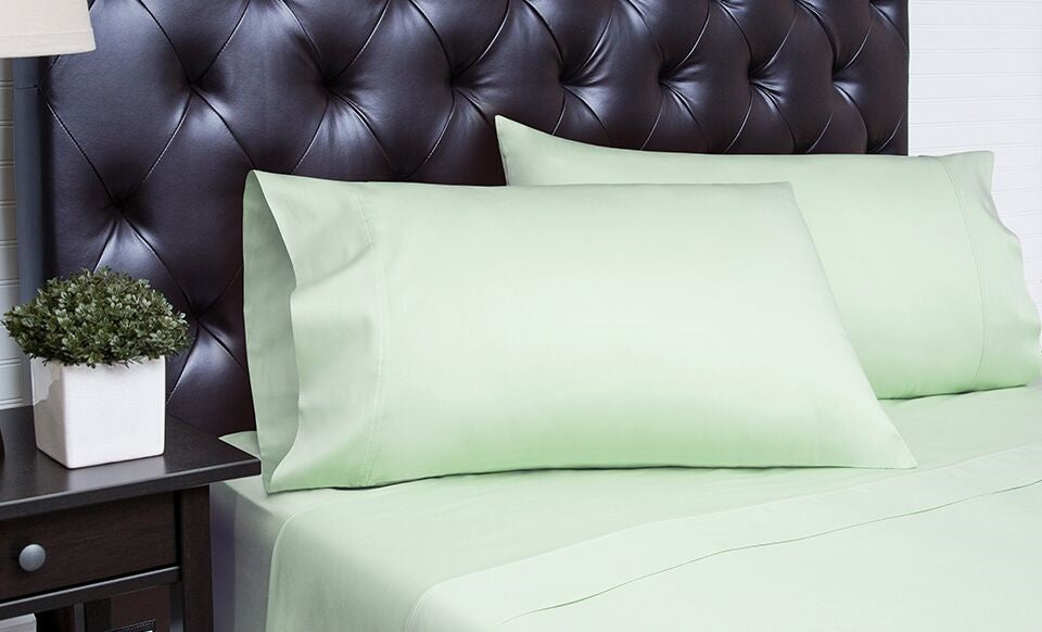 Spectrum Home Cotton Rich T-340 Sea Foam Sheet Set