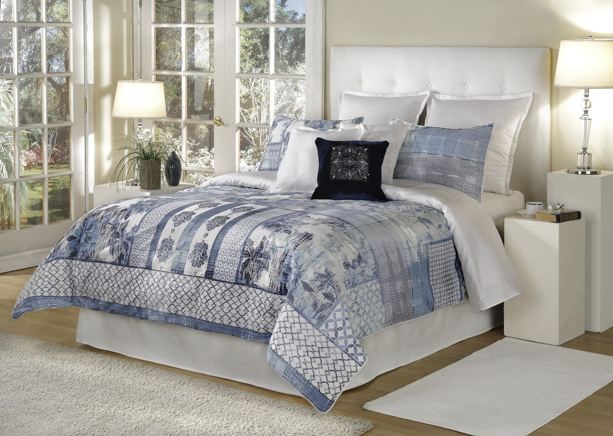 bed INC Quinn Blue Comforter Set