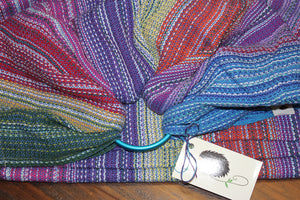 Hand Woven Ring Sling - 1.9m Tulip Fields - Blue Weft - Pebble Weave
