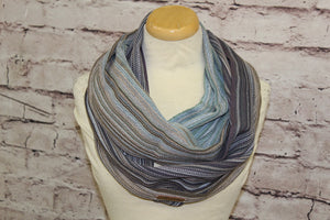 Hand Woven Infinity Scarf // Harmony - Jeans Weft