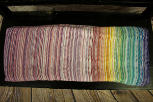 Hand Woven Baby Wrap - 4.5m Chasing Rainbows - Lavande Weft - Erizo Weave