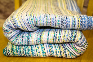 Hand Woven Baby Wrap - 4.8m The Smallest Things- Natural Weft - Pebble Weave