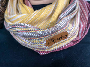 Hand Woven Infinity Scarf // Amber