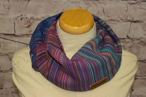 Hand Woven Mini Infinity Scarf // Electric Avenue