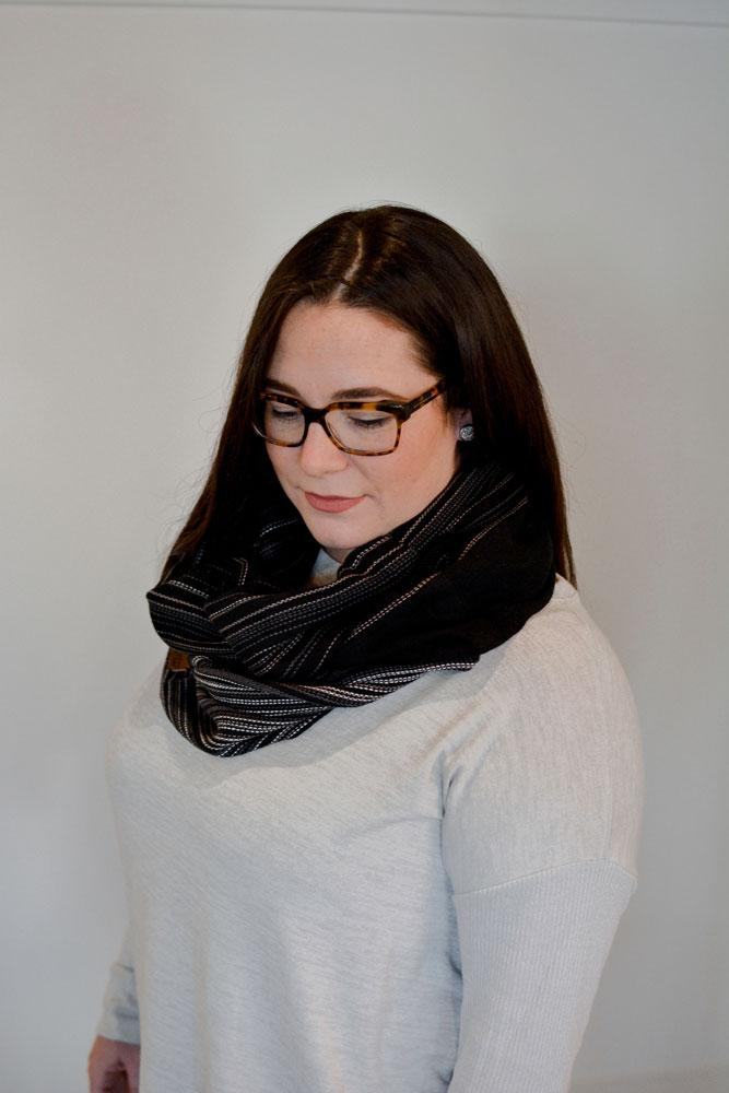 Hand Woven Cowl // Obsidian
