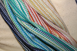 Hand Woven Infinity Scarf // Mother Ocean - Cactus Bamboo Weft - Plain Weave