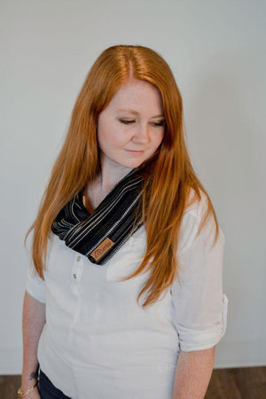 Hand Woven Infinity Scarf // Obsidian
