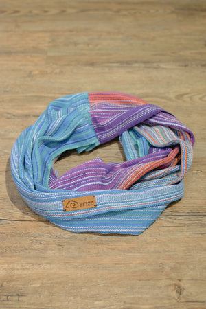 Hand Woven Infinity Scarf // Fire Opal