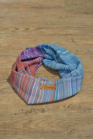 Hand Woven Mini Infinity Scarf // Fire Opal