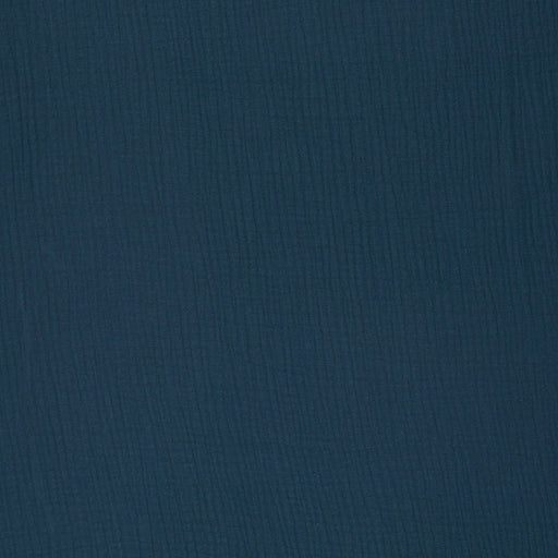 Cotton Double Gauze, Dark Blue