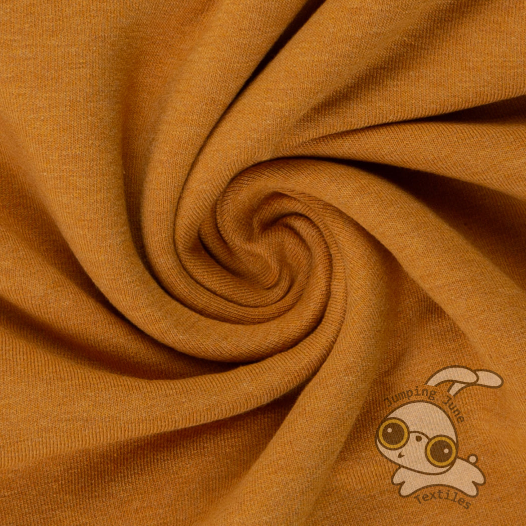 Stretch Sweatshirt Fleece, Melange Ochre