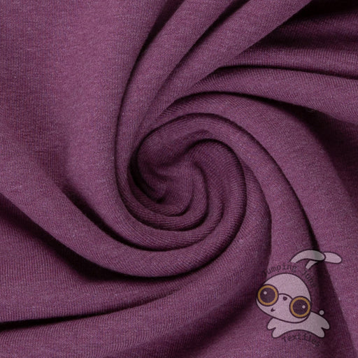Stretch Sweatshirt Fleece, Melange Purple